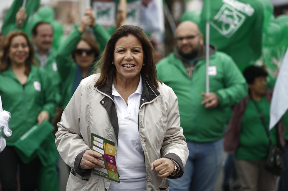 """Lourdes Flores: """"Alberto Beingolea adquirió reconocimiento y liderazgo"""" (Renzo Salazar/Perú21)"""