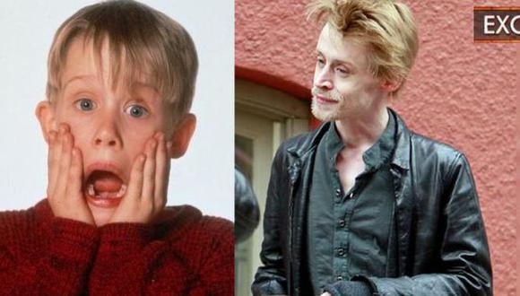 Culkin como 'Kevin McCallister' y como luce en la actualidad. (Internet/ET Online).