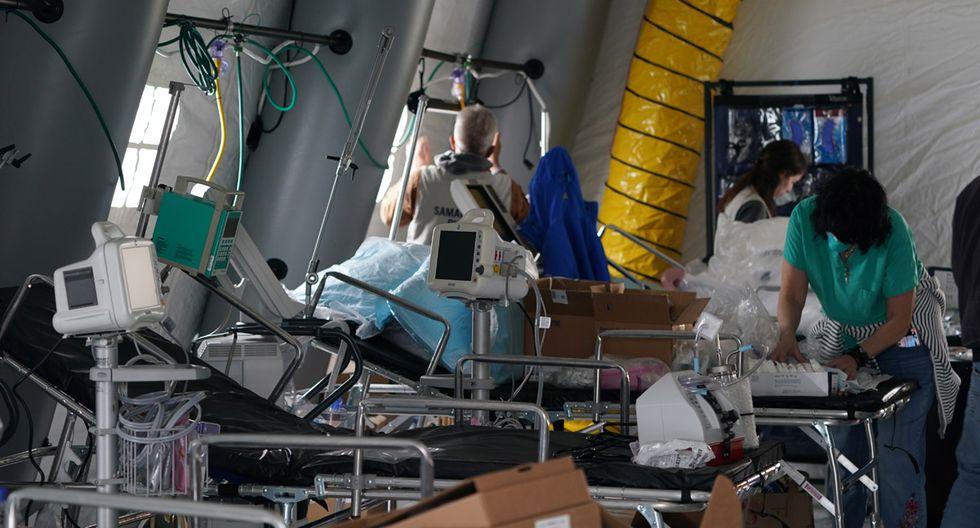 La ciudad de Nueva York tiene como meta incorporar 65 mil camas hospitalarias para afrontar el coronavirus en abril. (Foto: AFP/Bryan R. Smith)