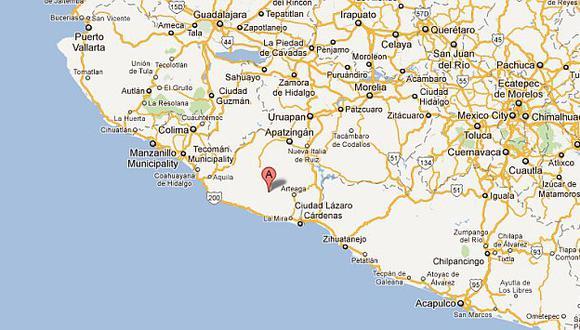 El temblor tuvo una profundidad de 65.6 km. (Google Maps)