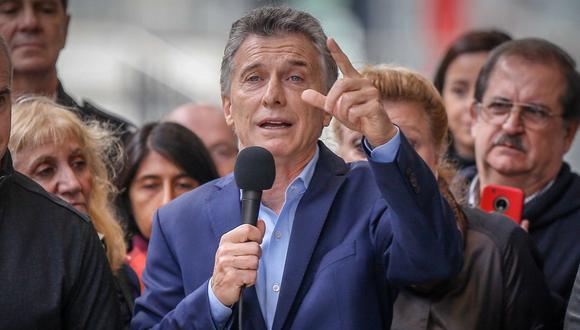 Mauricio Macri le expresó sus felicitaciones a Thiago Lapp. (Foto: EFE)