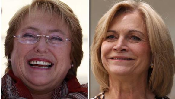 Michelle Bachelet y Evelyn Matthei, las dos van a la cabeza de sondeos. (Reuters)