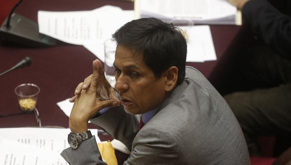 El vocero de Peruanos por el Kambio, Jorge Meléndez, consideró que el acuerdo de colaboración eficaz corre peligro por interpelación a Vicente Zeballos. (Foto: GEC)