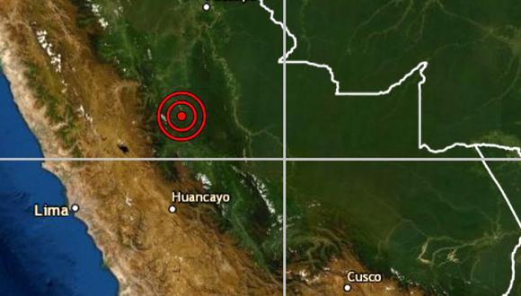 De acuerdo con el IGP, el epicentro de este movimiento telúrico se ubicó a 15 kilómetros al suroeste de Puerto Bermudez. (IGP)