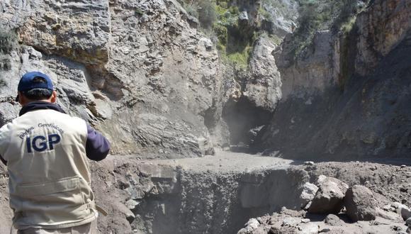 Arequipa: El IGP advirtió del peligro que existe ante una posible caída de sedimentos volcánicos a causa de las lluvias intensas. (Foto: IGP)