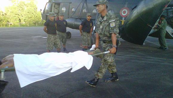 Los militares heridos fueron transferidos al hospital de campaña del distrito de Pichari. (Difusión)