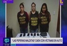 Comas: Policía capturó una banda de 'peperas' tras robar a tres hombres