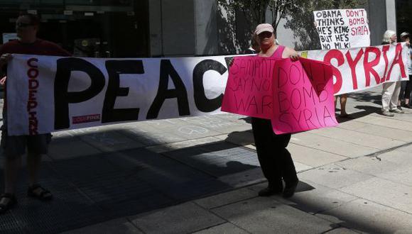 La protesta del colectivo Code Pink no se detiene en Washington. (AP)