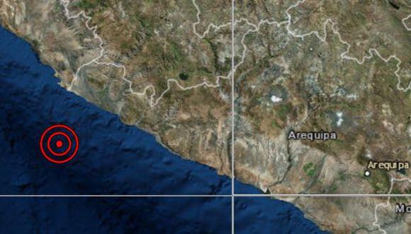 El temblor de magnitud 4,3 se registró a las 13:21 p.m. (Captura: IGP)