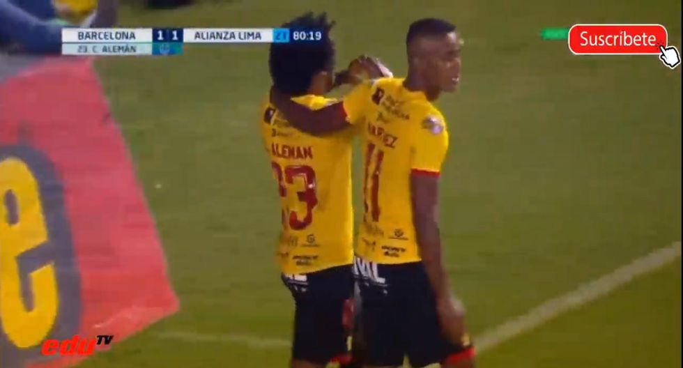 Alianza Lima recibió dos goles de parte de Alemán en la Noche Amarilla. (Captura: DirecTV)