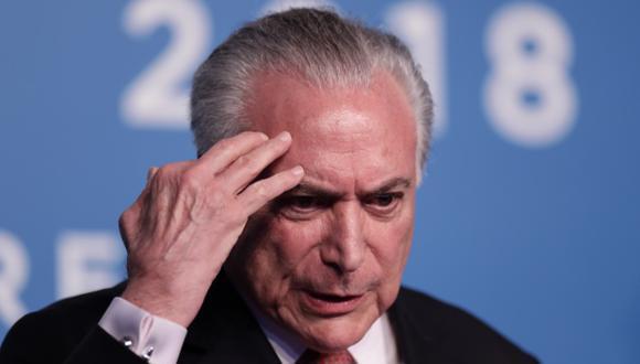 En marzo pasado, el expresidente Michel Temer pasó cuatro días en prisión. (Foto: AFP)