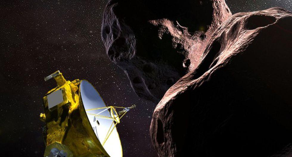 """Ilustración de la NASA muestra la nave espacial New Horizons que se encuentra con el MU69 2014, apodado """"Ultima Thule"""". (Foto: AFP)"""
