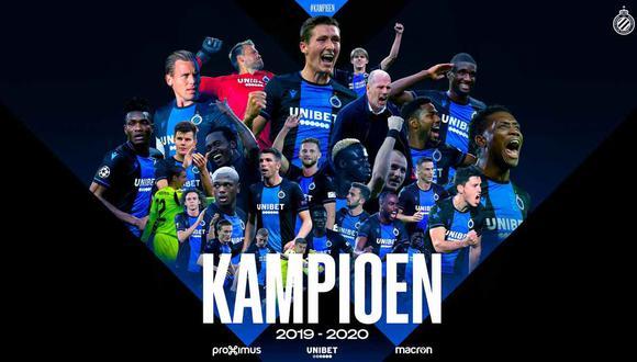 El Club Brujas fue proclamado campeón de la liga belga. (Foto: @ClubBrugge)