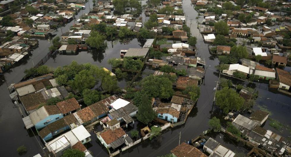 Un departamento paraguayo en la frontera con Argentina se declaró el miércoles en emergencia luego de que el río Paraguay. (AP)