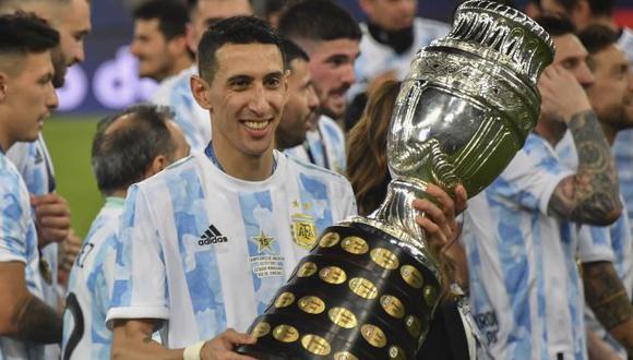 Di María marcó el gol del título de Argentina en la Copa América. (Foto: AFP)