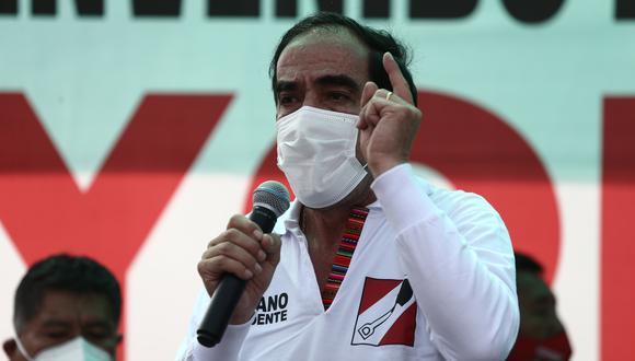 Yonhy Lescano consideró que la propuesta de Pedro Castillo de desactivar el TC esta fuera de foco. (Foto: Archivo GEC)