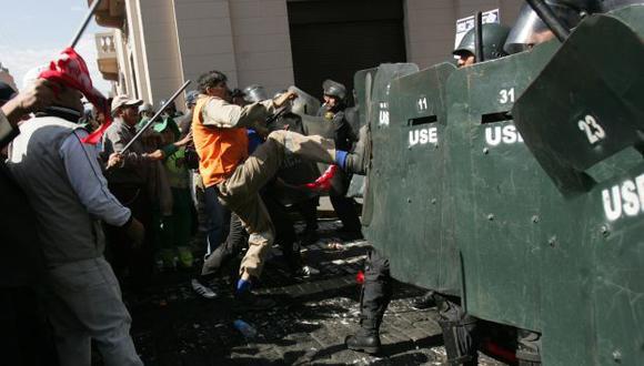 ANUNCIAN PARO NACIONAL. Los sindicatos de empleados estatales radicalizarán mañana sus jornadas de protesta. (Heiner Aparicio)
