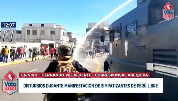 Disturbios en Arequipa
