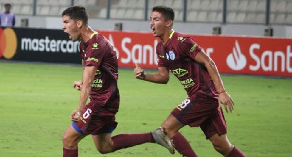Tomás Cardona anotó gol y puso el 1-1 ante Sporting Cristal. (Foto: Godoy Cruz)