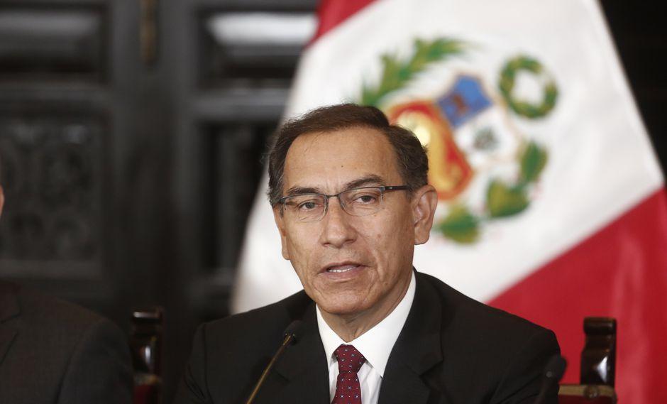 """""""Yo estoy seguro que es el diálogo el que nos va a llevar a tomar las mejores decisiones"""", dijo el mandatario. (César Campos/Perú21)"""