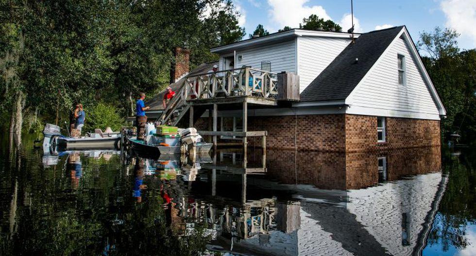 Se estima que el agua llegue a un nivel sin precedente de 3 metros. | Foto: AFP