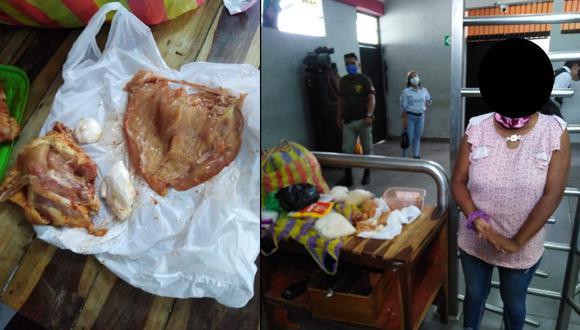 Tumbes: mujer introdujo droga en presas de pollo para llevarla a hermano recluido en penal