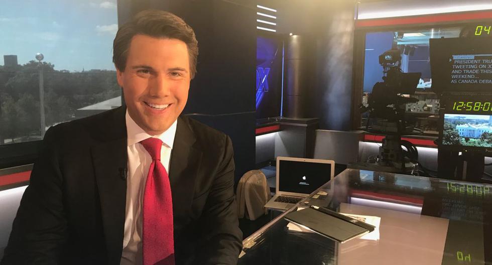 Leland Vittert, reportero de Fox News. fue agredido y perseguido por manifestantes que se habían reunido el sábado por la mañana afuera de la Casa Blanca. (Twitter @LelandVittert).