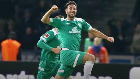 Claudio Pizarro registra 195 goles en la historia de la Bundesliga. (Foto: Werder Bremen)
