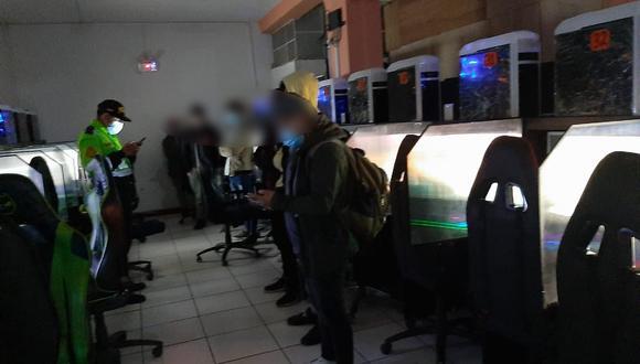 Junín: hallan a cinco menores de edad durante intervención a una sala de videojuegos (Foto: Municipalidad Provincial Huancayo)