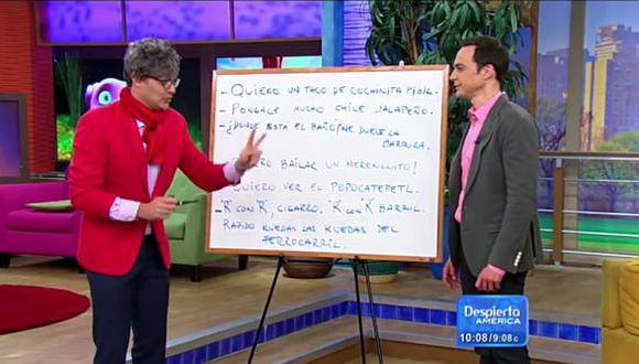 Sheldon Cooper no solo habla klingon, también domina el español. (YouTube)