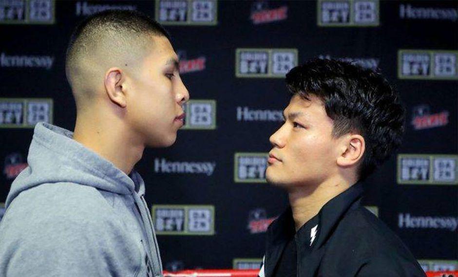Jaime Munguía defiende su invicto ante el japonés Takeshi Inoue que peleará por primera vez fuera de Asia. (Foto tomada de Facebook OMB / Tom Hogan - Hoganphotos / Golden Boy Promotions)