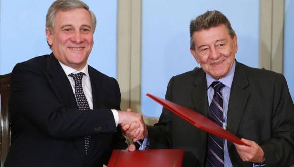 Tajani se reunió hoy con canciller Roncagliolo. (Andina)