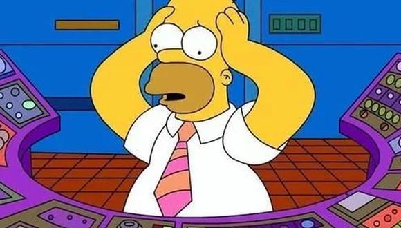 Esta escena pertenece a un capítulo donde Homero está trabajando en la planta nuclear del Sr. Burns. (Foto: Captura)