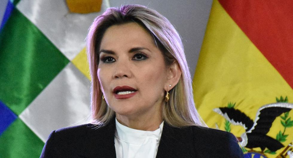 Imagen de la expresidenta de Bolivia Jeanine Áñez. (Foto: AFP).
