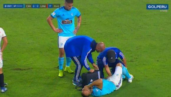 Emanuel Herrera se lesionó antes de los 20 minutos de juego del partido Universitario vs. Sporting Cristal. (Video: Gol Perú)