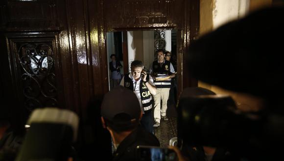 Los allanamientos a los locales de Fuerza Popular se registraron en diciembre del 2017. (Renzo Salazar / GEC)