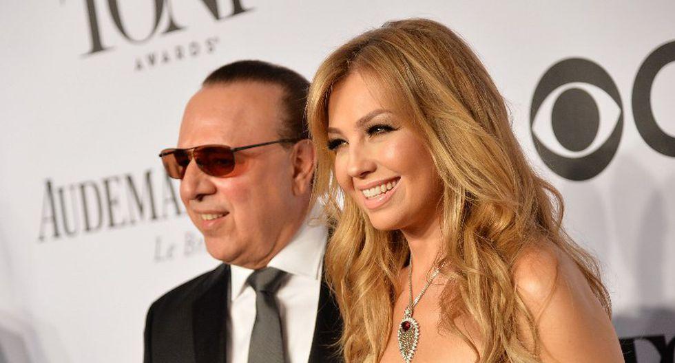 Thalía y su esposo Tony Mottola   Foto: AFP