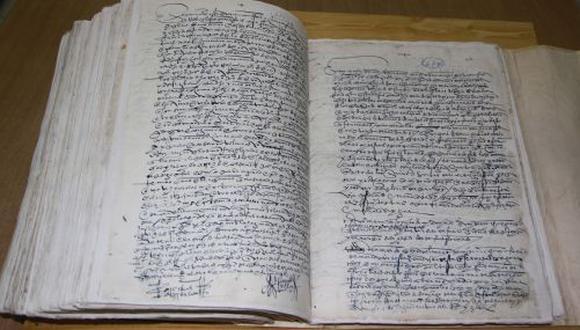 Protocolo ambulante de los conquistadores está constituida de r 804 escrituras.(Difusión)