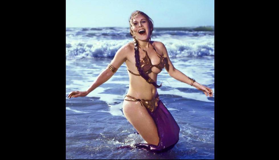 Esta son las fotos de Carrie Fisher como Leia en la playa que arrasaron Intrernet. (Rolling Stones)