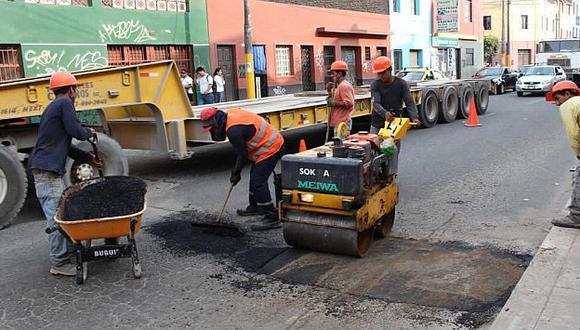 Desde este lunes cerrarán algunas calles y avenidas en Breña para reconstrucción de pistas y veredas. (Difusión)