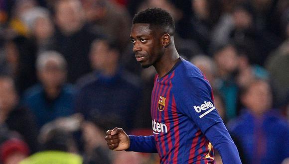 Ousmane Dembélé no tendría una lesión grave, según primer reporte del Barcelona. (Foto: AFP)