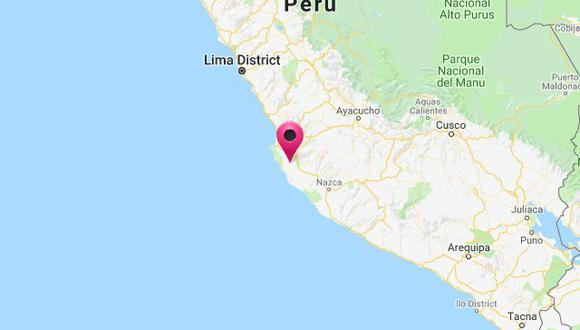 El sismo ocurrió a una profundidad de 49 km., reportó el IGP. (Captura: Hidrografía Perú)