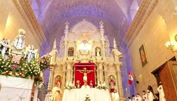 Puno: realizan misa virtual en honor a la Virgen de la Candelaria (Foto: captura de pantalla Facebook)