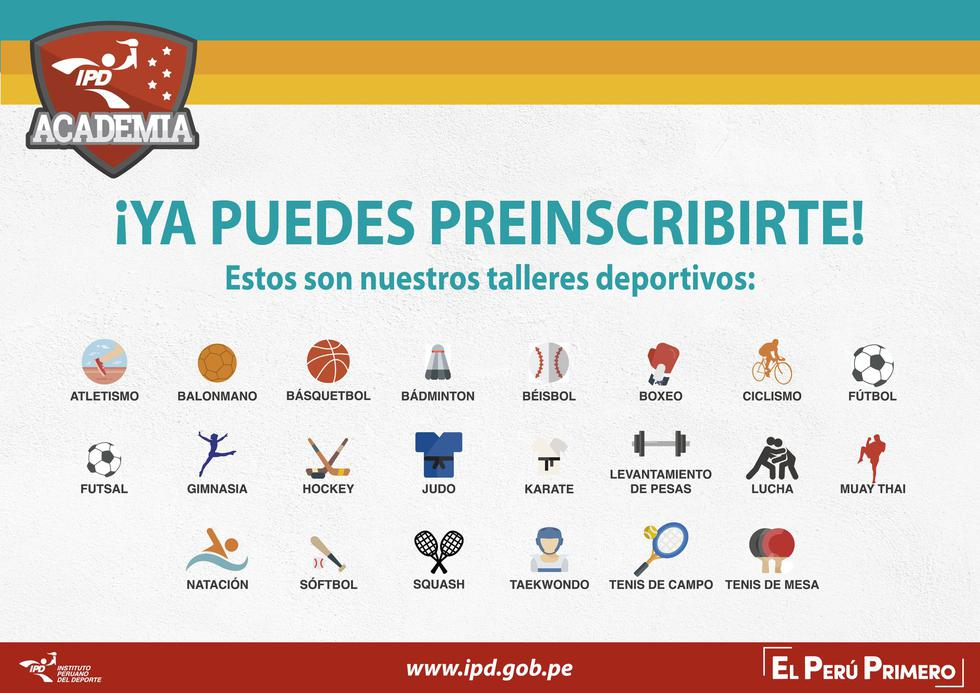 Instituto Peruano del Deporte lanza talleres gratuitos para menores en Lima y Callao (Facebook Instituto Peruano del Deporte)