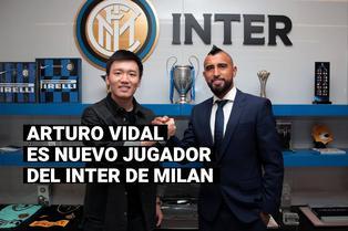 Arturo Vidal fue anunciado como el nuevo jugador del Inter tras dos temporadas en el Barcelona