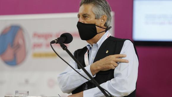 """Francisco Sagasti espera que próximo gobierno continúe con el """"mismo ritmo"""" de vacunación contra el COVID-19. (Foto: Violeta Ayasta / @photo.gec)"""