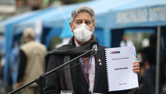 Minsa entregó al Gobierno cuatro estudios de especialistas peruanos sobre la eficacia de la vacuna Sinopharm. (Foto: Britanie Arroyo/@photo.gec)