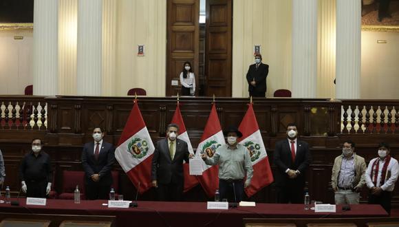 Mesa Directiva del Congreso realizó una nueva conferencia presencial. (Anthony Niño de Guzmán/GEC)