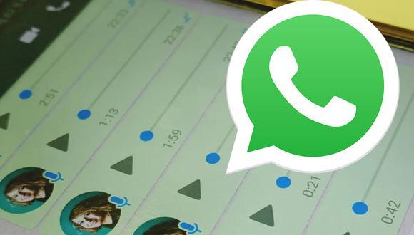 ¿Deseas escuchar tus audios que te mandan por WhatsApp más rápido. Usa este truco. (Foto: WhatsApp)