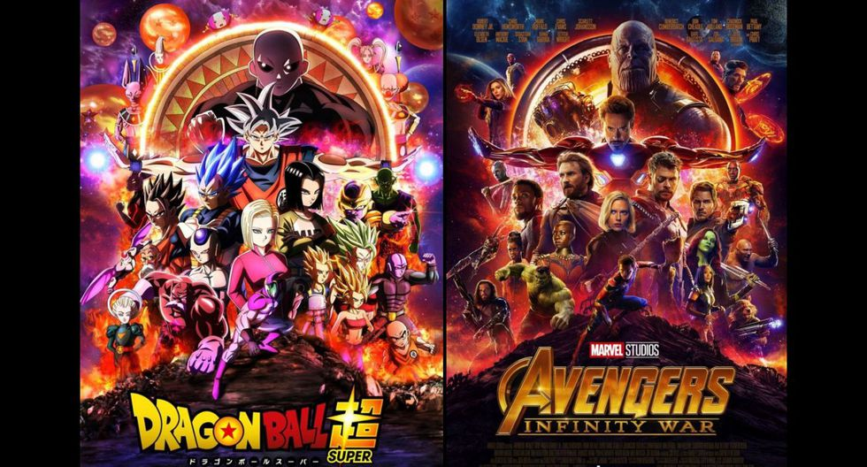 Avengers Infinity War Y Dragon Ball Super Se Fusionan En